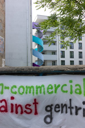 Anti-gentrifizierungs Protest in Berlin-Mitte
