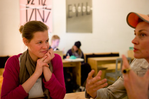 conversation: Madeleine and Britta at Betahaus