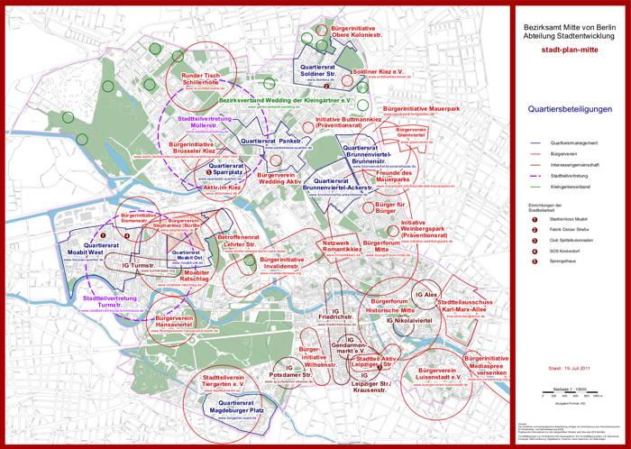 Berlin Mitte Karte.Karte Der Quartiersbeteiligungen In Berlin Mitte